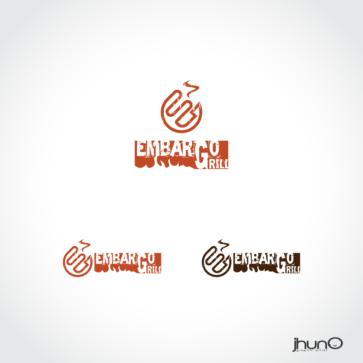 Logo Design by zesthar - Entry No. 60 in the Logo Design Contest Captivating Logo Design for Embargo Grill.