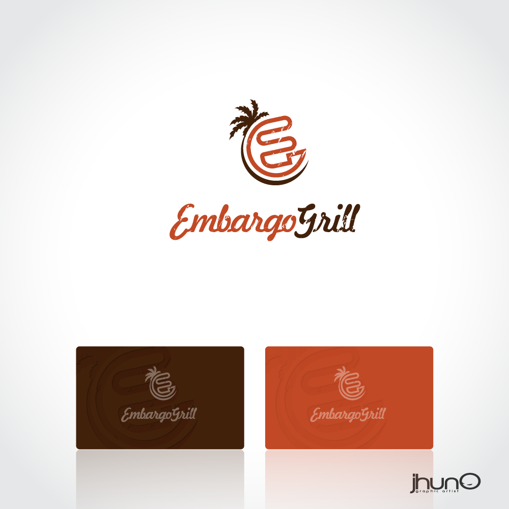 Logo Design by zesthar - Entry No. 61 in the Logo Design Contest Captivating Logo Design for Embargo Grill.