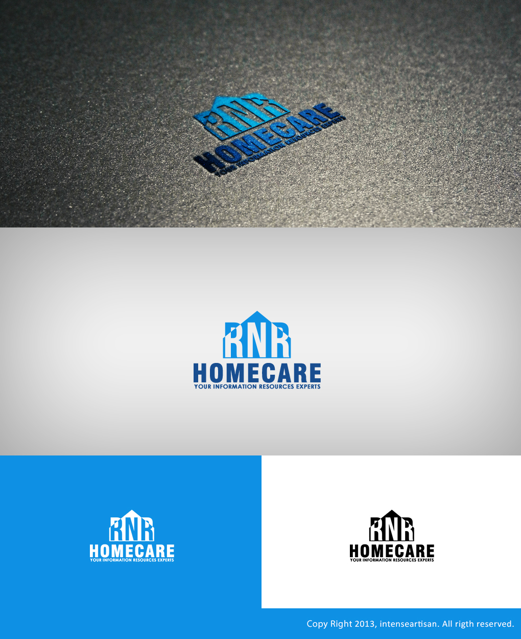 Logo Design by Virgilio Pineda III - Entry No. 123 in the Logo Design Contest Imaginative Logo Design for RNR HomeCare.
