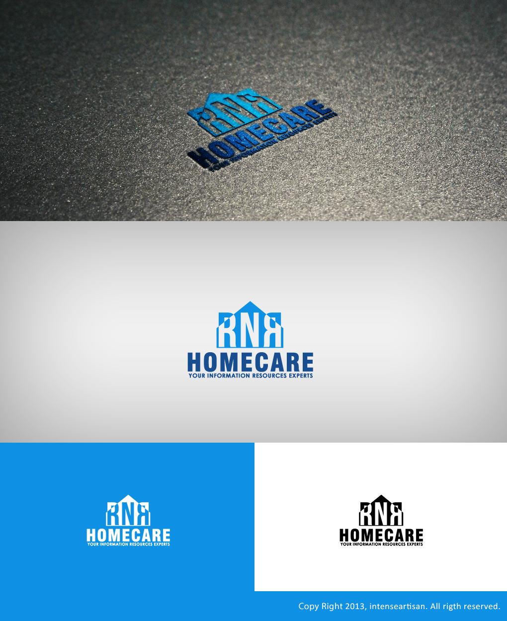 Logo Design by Virgilio Pineda III - Entry No. 124 in the Logo Design Contest Imaginative Logo Design for RNR HomeCare.