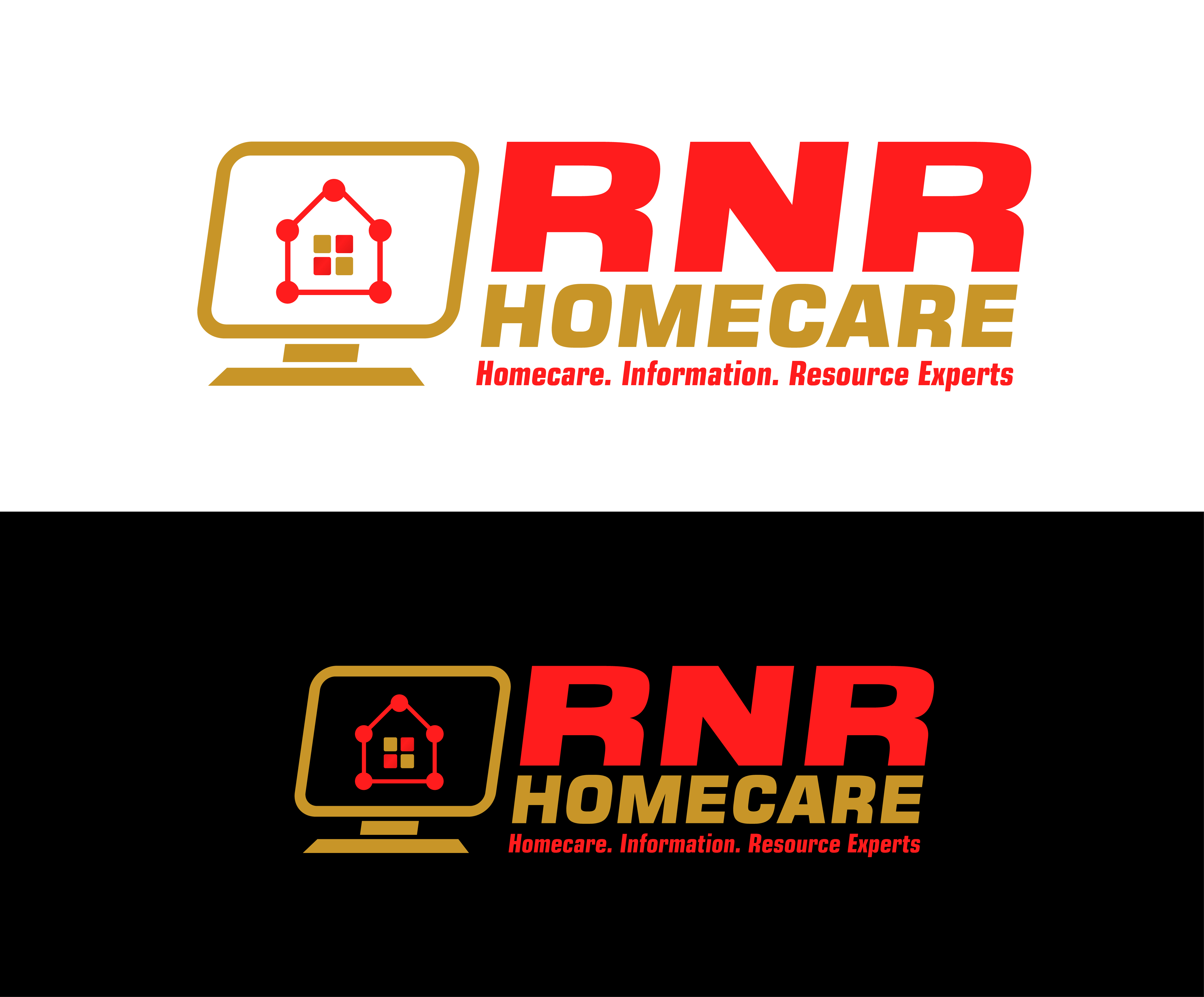 Logo Design by 3draw - Entry No. 126 in the Logo Design Contest Imaginative Logo Design for RNR HomeCare.