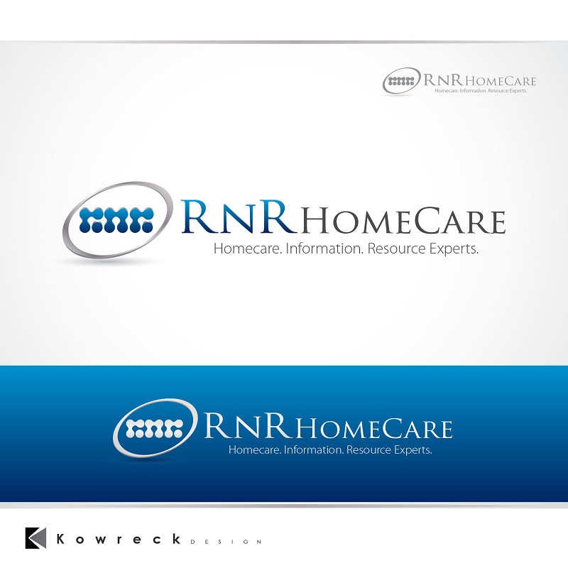 Logo Design by kowreck - Entry No. 133 in the Logo Design Contest Imaginative Logo Design for RNR HomeCare.