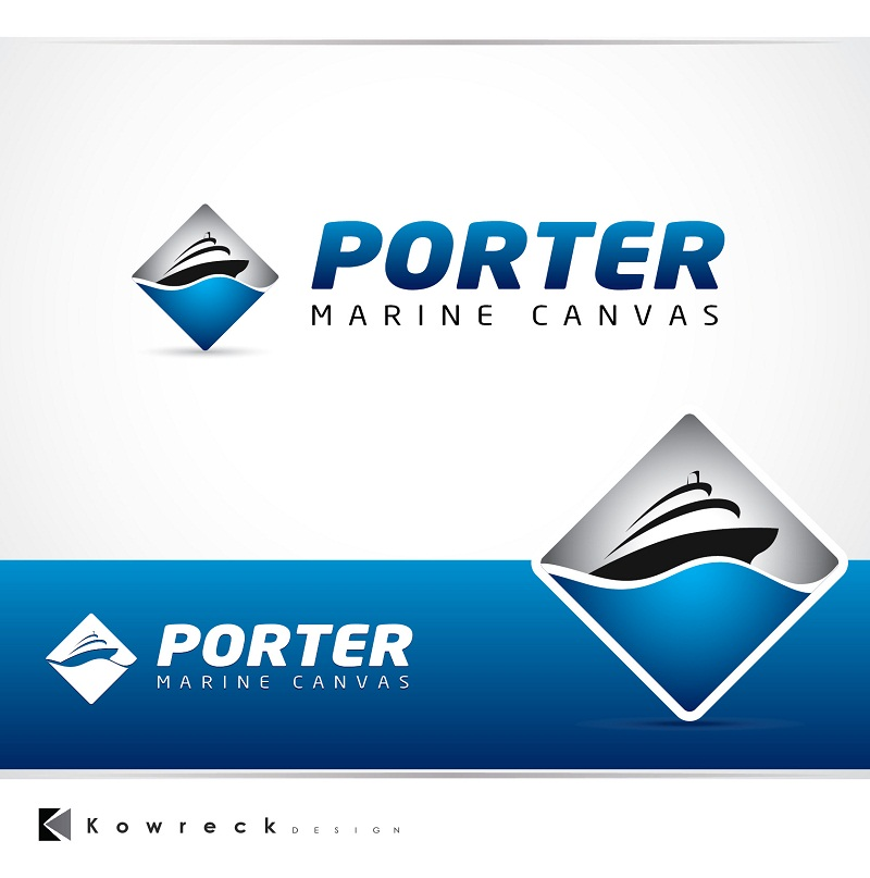 Logo Design by kowreck - Entry No. 125 in the Logo Design Contest Imaginative Logo Design for Porter Marine Canvas.