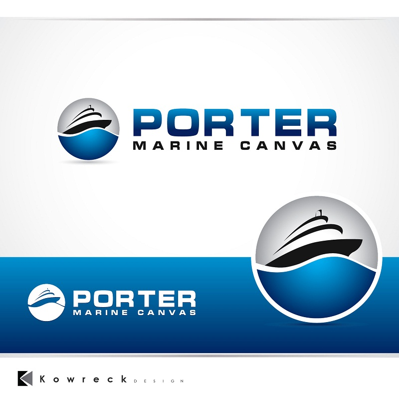 Logo Design by kowreck - Entry No. 126 in the Logo Design Contest Imaginative Logo Design for Porter Marine Canvas.