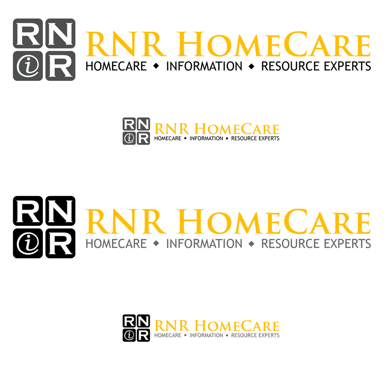 Logo Design by Private User - Entry No. 140 in the Logo Design Contest Imaginative Logo Design for RNR HomeCare.
