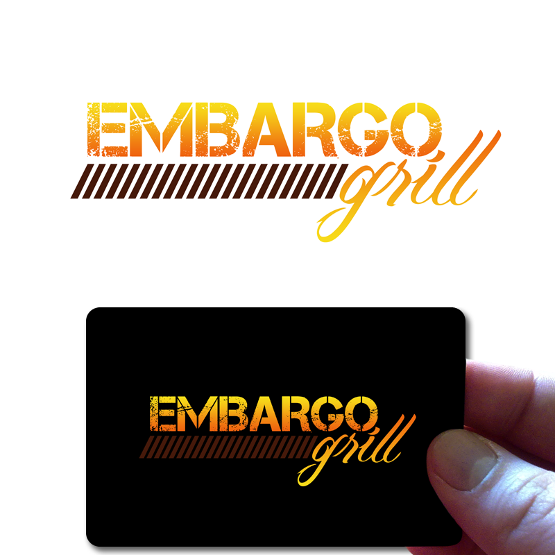 Logo Design by Robert Turla - Entry No. 62 in the Logo Design Contest Captivating Logo Design for Embargo Grill.