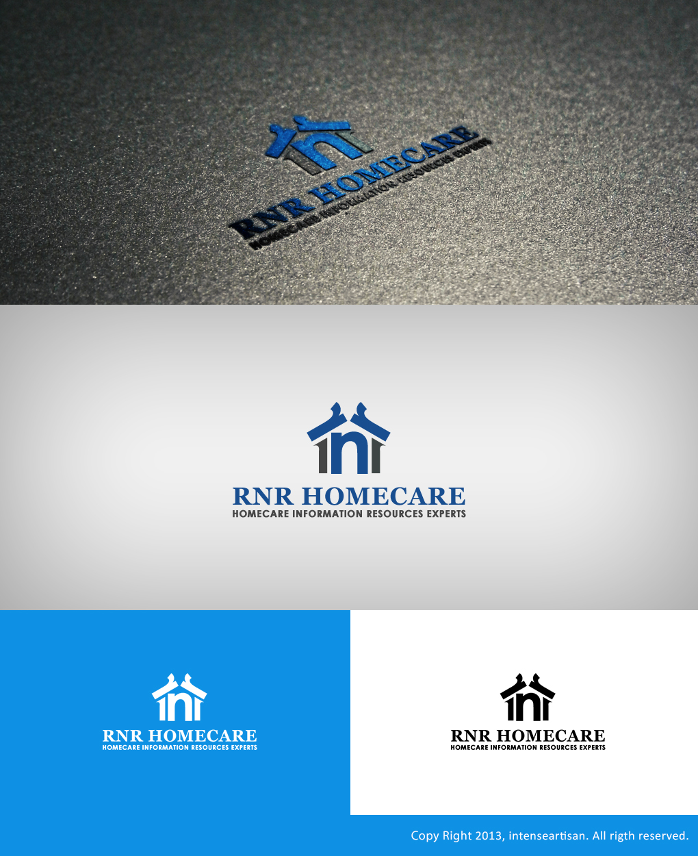 Logo Design by Virgilio Pineda III - Entry No. 146 in the Logo Design Contest Imaginative Logo Design for RNR HomeCare.