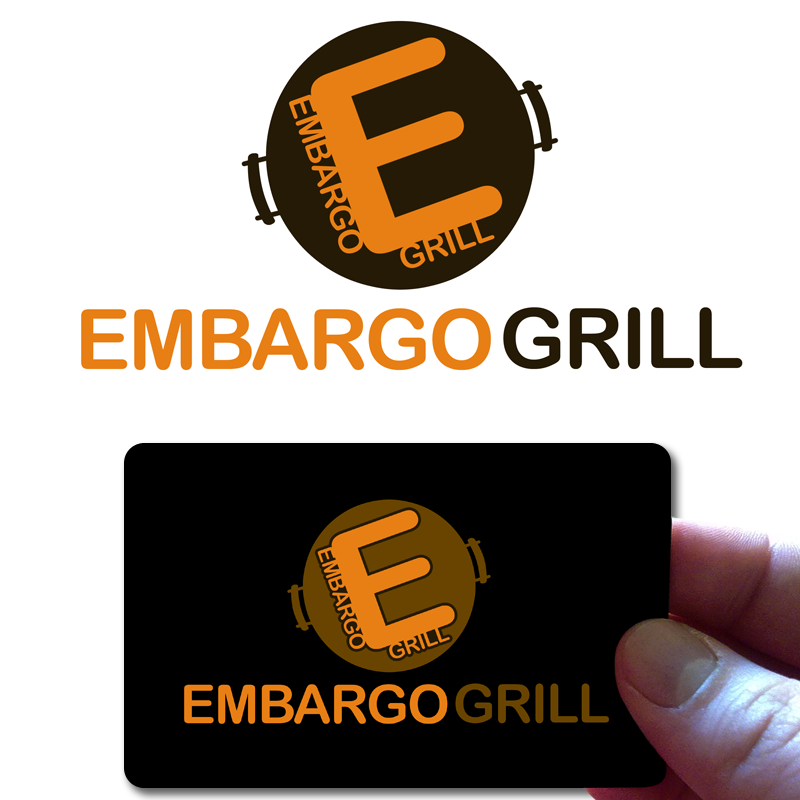 Logo Design by Private User - Entry No. 63 in the Logo Design Contest Captivating Logo Design for Embargo Grill.