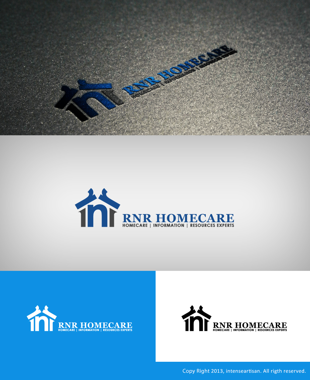 Logo Design by Virgilio Pineda III - Entry No. 148 in the Logo Design Contest Imaginative Logo Design for RNR HomeCare.