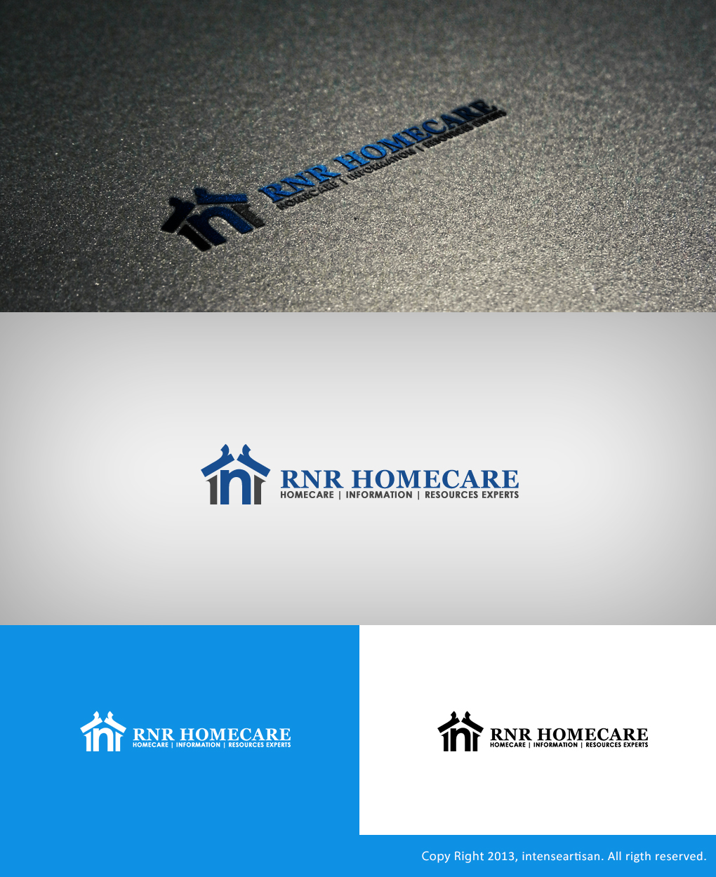 Logo Design by Virgilio Pineda III - Entry No. 151 in the Logo Design Contest Imaginative Logo Design for RNR HomeCare.