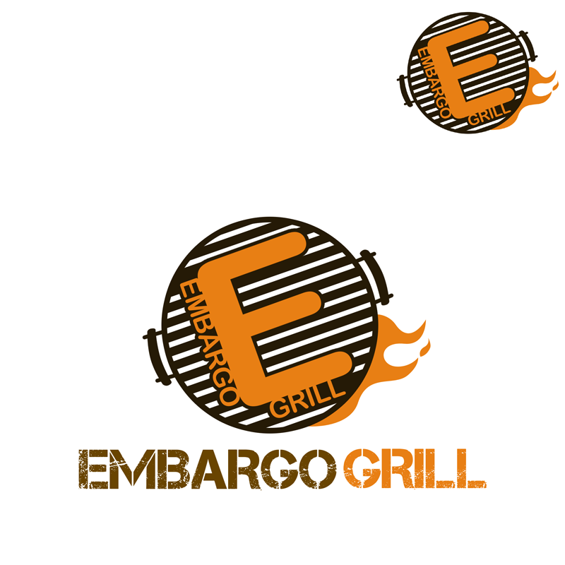 Logo Design by Robert Turla - Entry No. 65 in the Logo Design Contest Captivating Logo Design for Embargo Grill.
