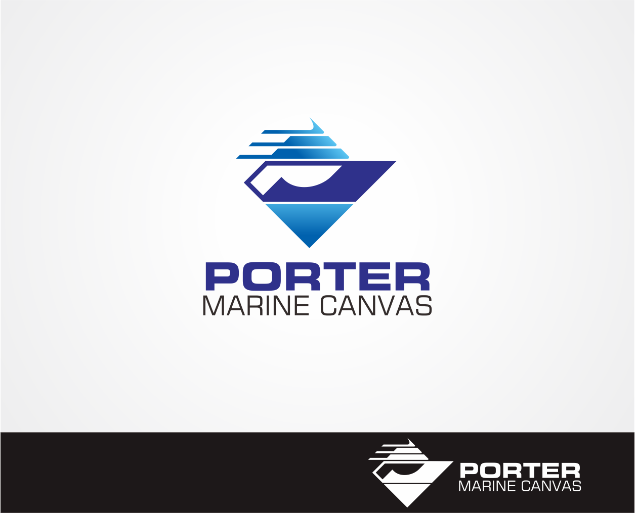 Logo Design by Armada Jamaluddin - Entry No. 134 in the Logo Design Contest Imaginative Logo Design for Porter Marine Canvas.