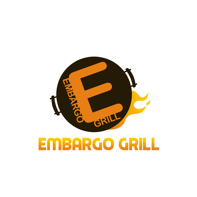 Logo Design by Private User - Entry No. 66 in the Logo Design Contest Captivating Logo Design for Embargo Grill.