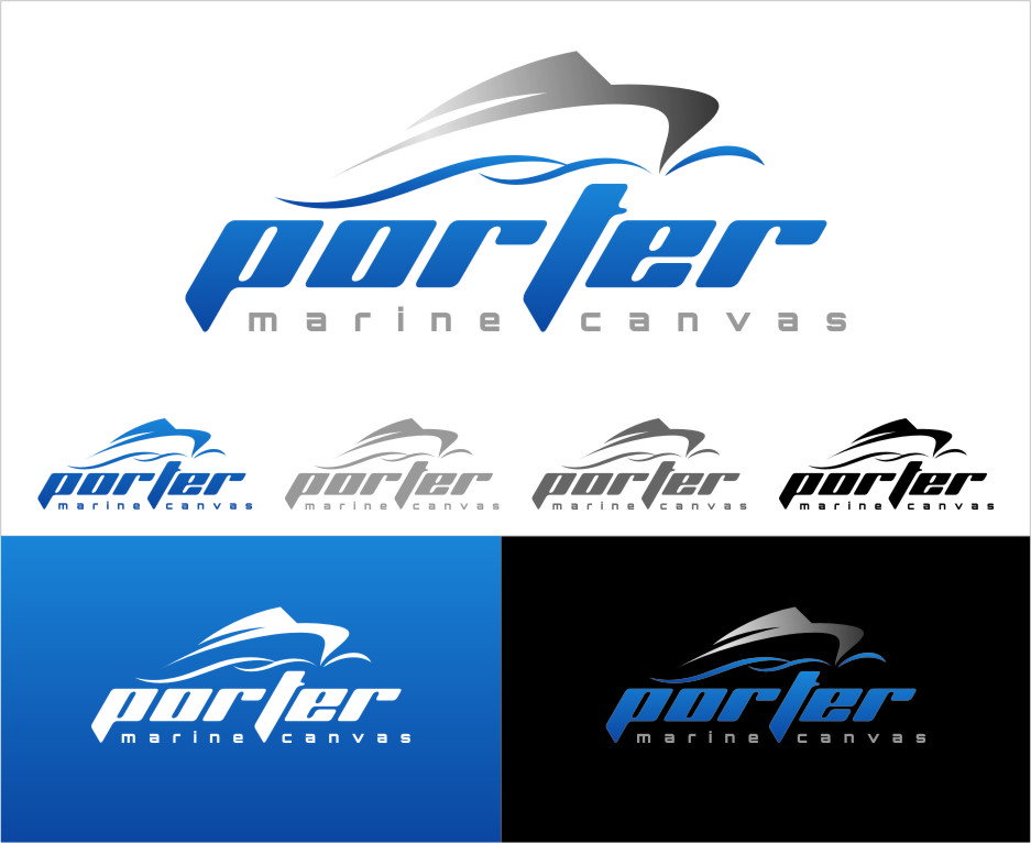Logo Design by Ngepet_art - Entry No. 135 in the Logo Design Contest Imaginative Logo Design for Porter Marine Canvas.