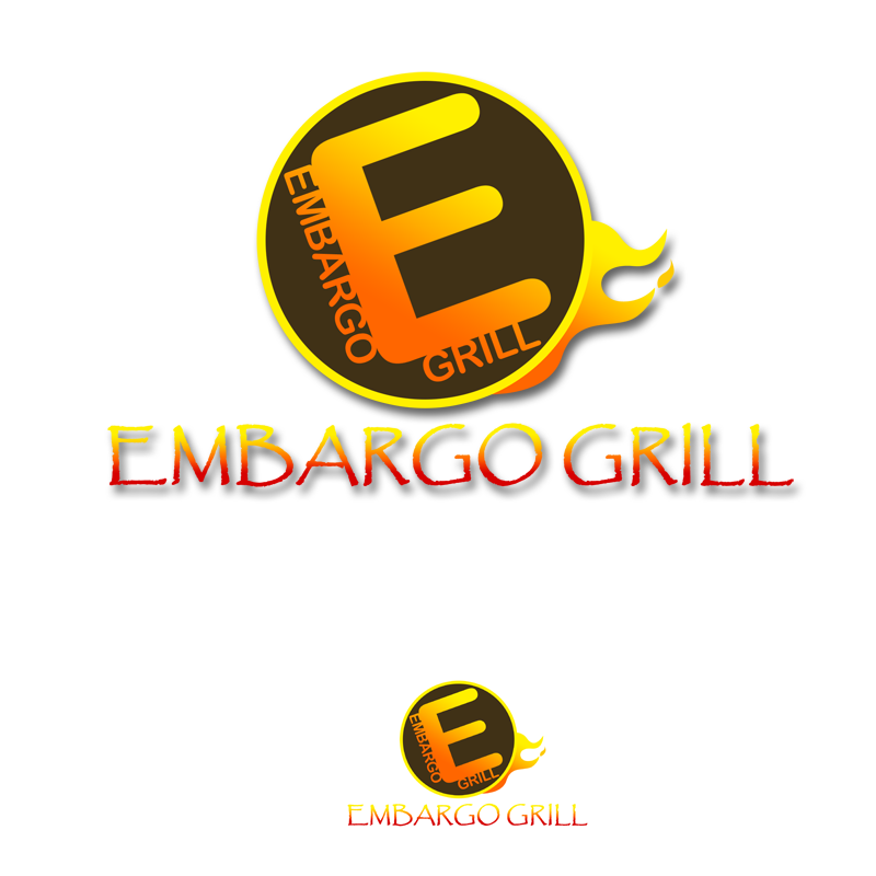 Logo Design by Private User - Entry No. 67 in the Logo Design Contest Captivating Logo Design for Embargo Grill.