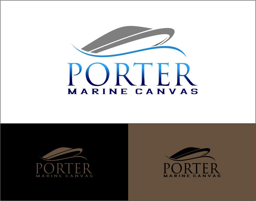 Logo Design by Agus Martoyo - Entry No. 136 in the Logo Design Contest Imaginative Logo Design for Porter Marine Canvas.
