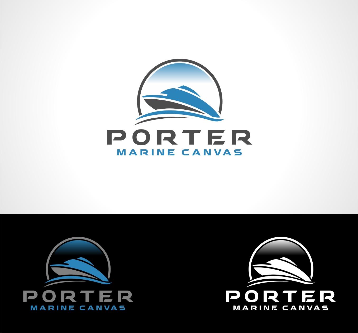 Logo Design by haidu - Entry No. 138 in the Logo Design Contest Imaginative Logo Design for Porter Marine Canvas.