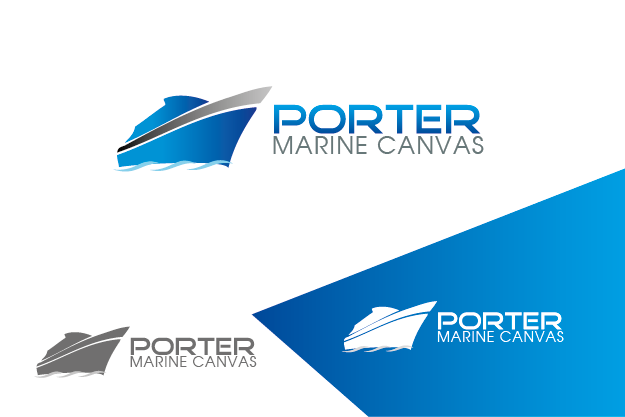 Logo Design by Private User - Entry No. 143 in the Logo Design Contest Imaginative Logo Design for Porter Marine Canvas.