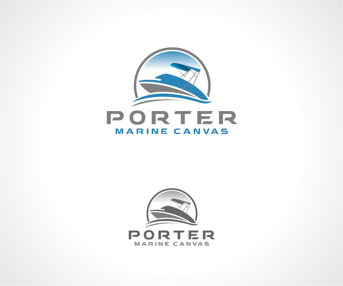 Logo Design by haidu - Entry No. 144 in the Logo Design Contest Imaginative Logo Design for Porter Marine Canvas.