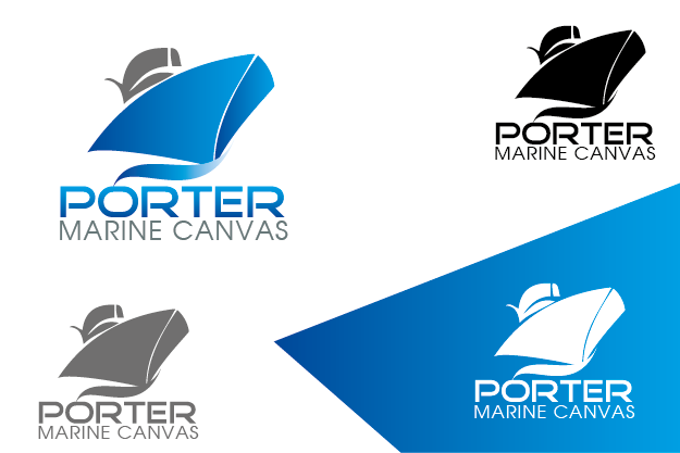 Logo Design by Private User - Entry No. 145 in the Logo Design Contest Imaginative Logo Design for Porter Marine Canvas.