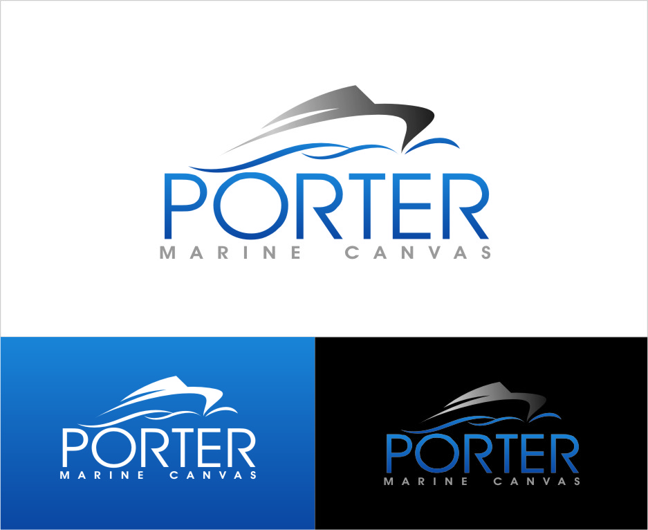 Logo Design by Ngepet_art - Entry No. 146 in the Logo Design Contest Imaginative Logo Design for Porter Marine Canvas.