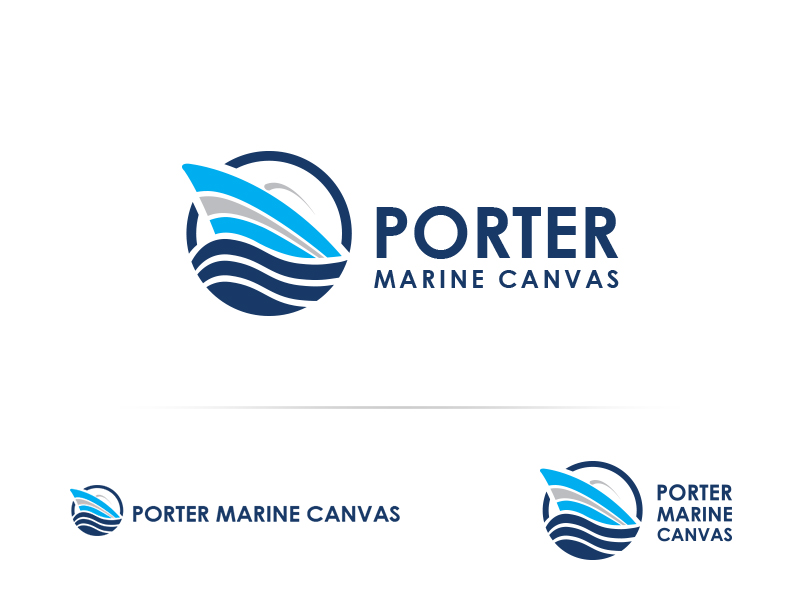 Logo Design by Sai Prathik - Entry No. 151 in the Logo Design Contest Imaginative Logo Design for Porter Marine Canvas.