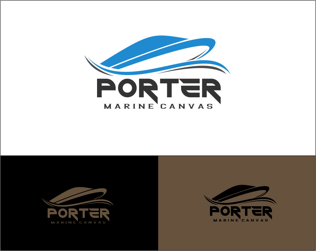 Logo Design by Agus Martoyo - Entry No. 153 in the Logo Design Contest Imaginative Logo Design for Porter Marine Canvas.