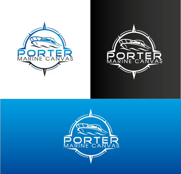 Logo Design by Private User - Entry No. 154 in the Logo Design Contest Imaginative Logo Design for Porter Marine Canvas.