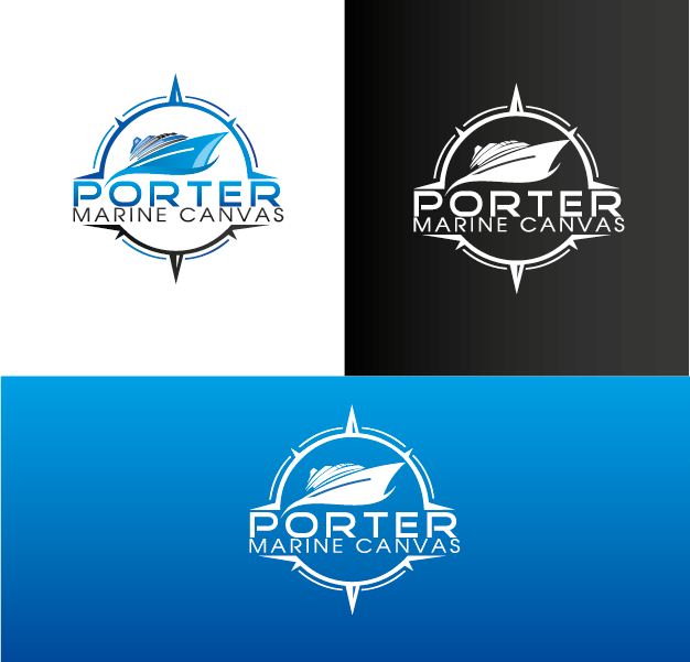 Logo Design by Private User - Entry No. 155 in the Logo Design Contest Imaginative Logo Design for Porter Marine Canvas.