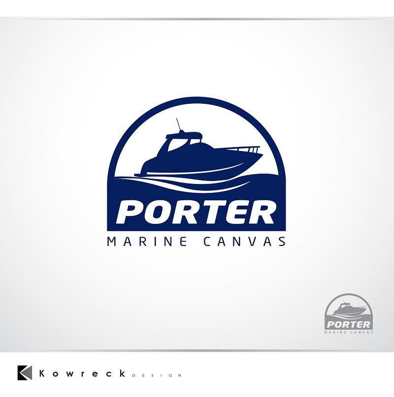 Logo Design by kowreck - Entry No. 162 in the Logo Design Contest Imaginative Logo Design for Porter Marine Canvas.