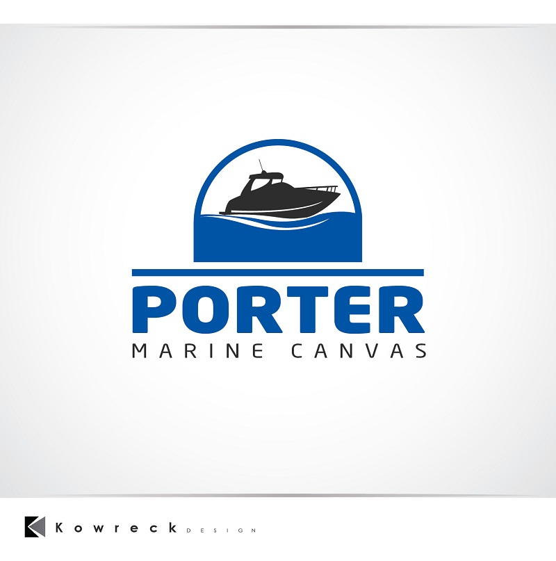 Logo Design by kowreck - Entry No. 165 in the Logo Design Contest Imaginative Logo Design for Porter Marine Canvas.