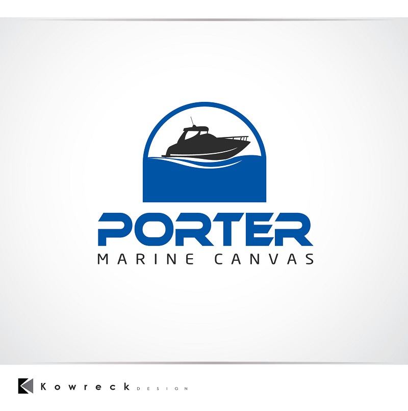 Logo Design by kowreck - Entry No. 166 in the Logo Design Contest Imaginative Logo Design for Porter Marine Canvas.