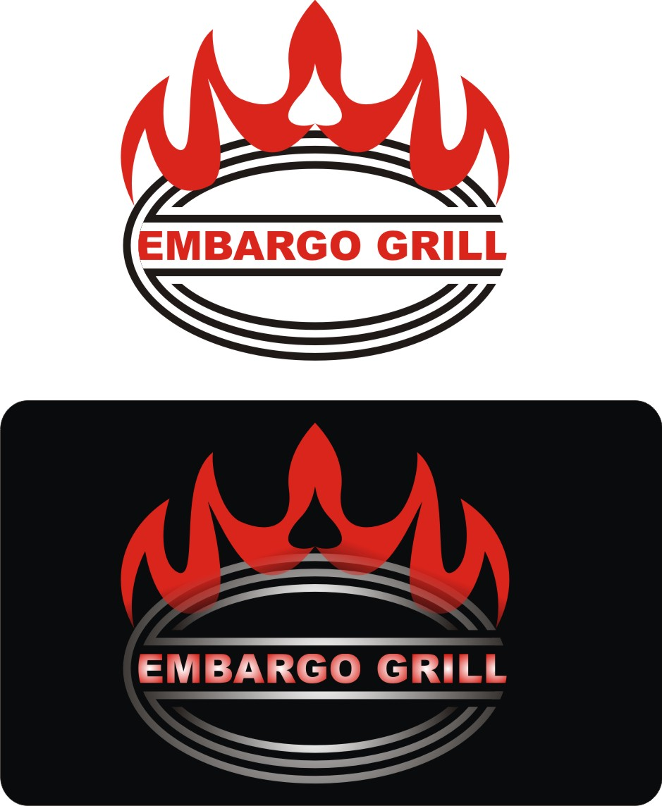 Logo Design by Korsunov Oleg - Entry No. 69 in the Logo Design Contest Captivating Logo Design for Embargo Grill.