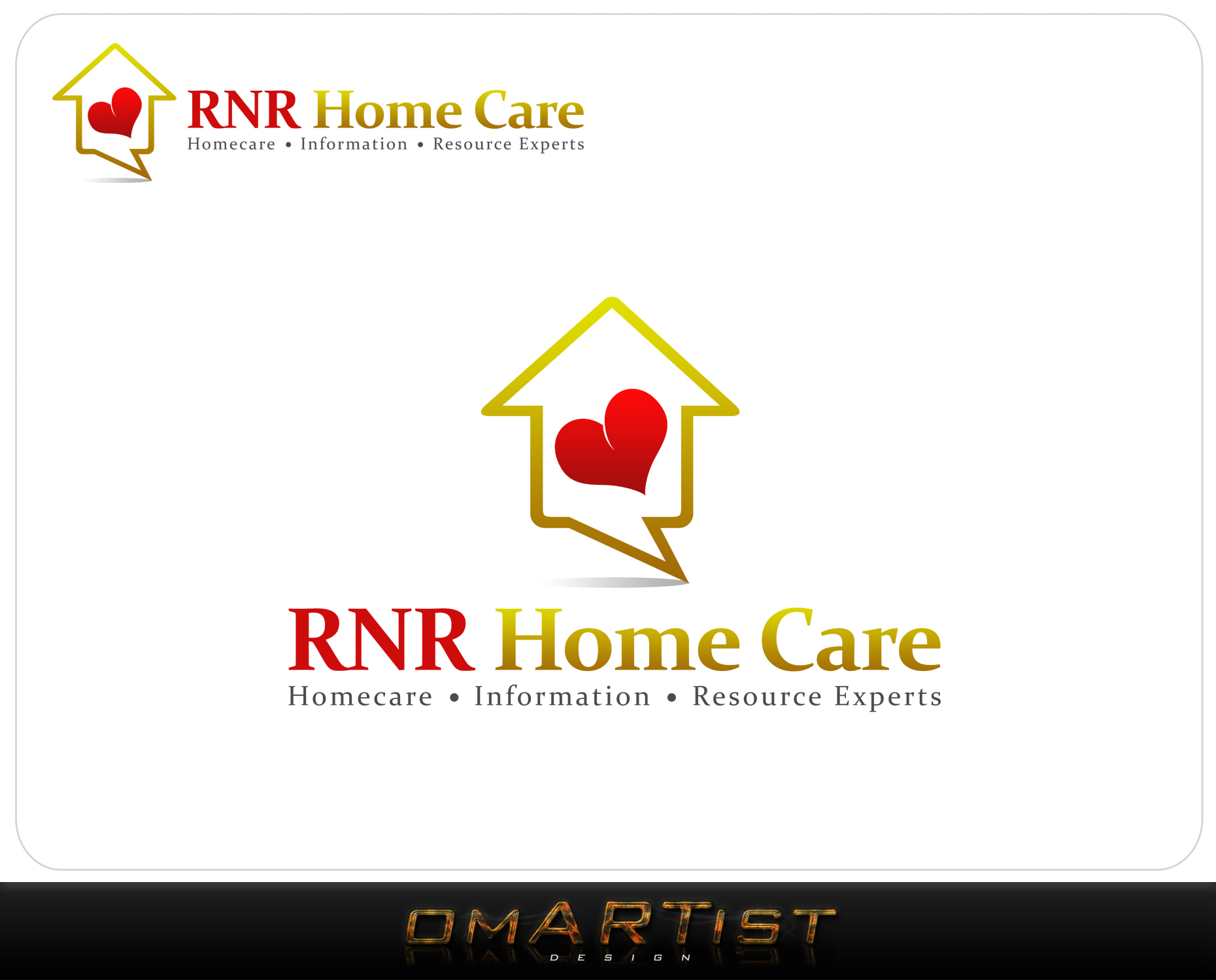 Logo Design by omARTist - Entry No. 166 in the Logo Design Contest Imaginative Logo Design for RNR HomeCare.