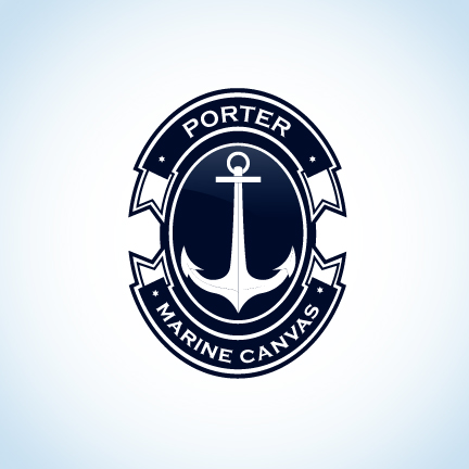 Logo Design by Top Elite - Entry No. 172 in the Logo Design Contest Imaginative Logo Design for Porter Marine Canvas.