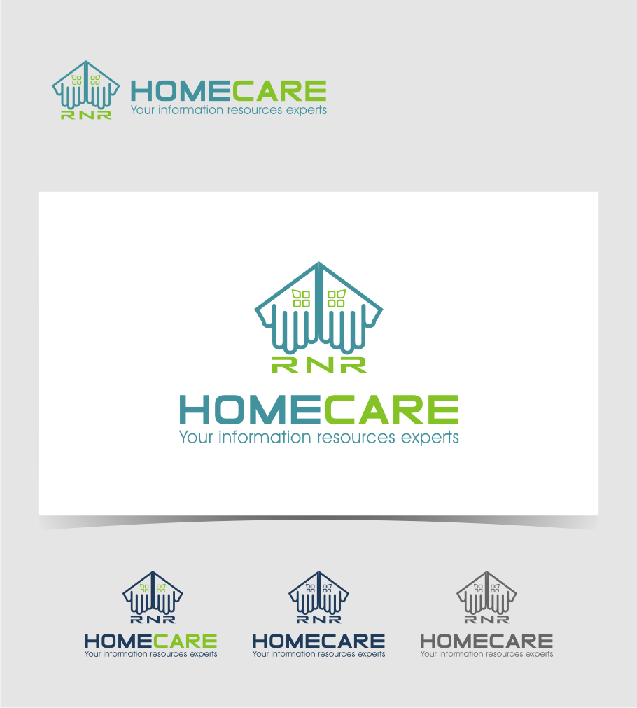 Logo Design by Muhammad Nasrul chasib - Entry No. 172 in the Logo Design Contest Imaginative Logo Design for RNR HomeCare.