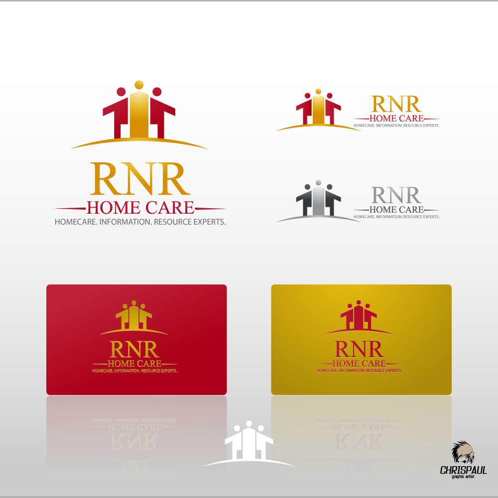 Logo Design by zesthar - Entry No. 174 in the Logo Design Contest Imaginative Logo Design for RNR HomeCare.