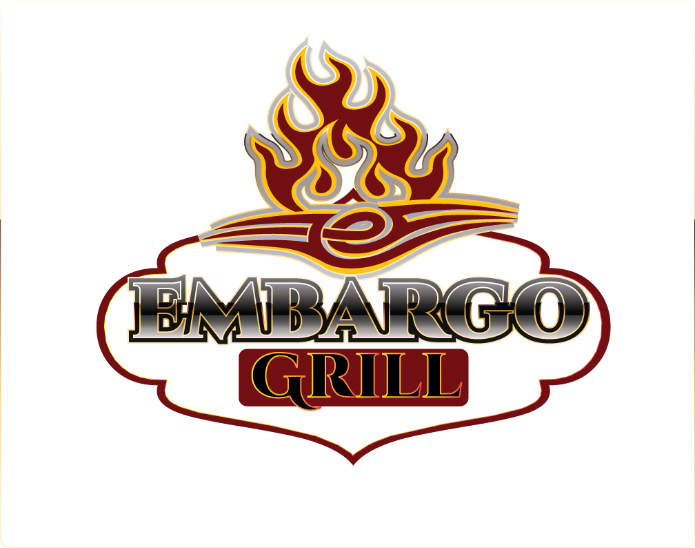 Logo Design by Sri Lata - Entry No. 71 in the Logo Design Contest Captivating Logo Design for Embargo Grill.