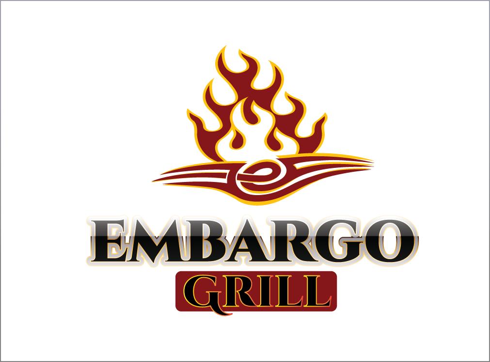 Logo Design by Sri Lata - Entry No. 74 in the Logo Design Contest Captivating Logo Design for Embargo Grill.