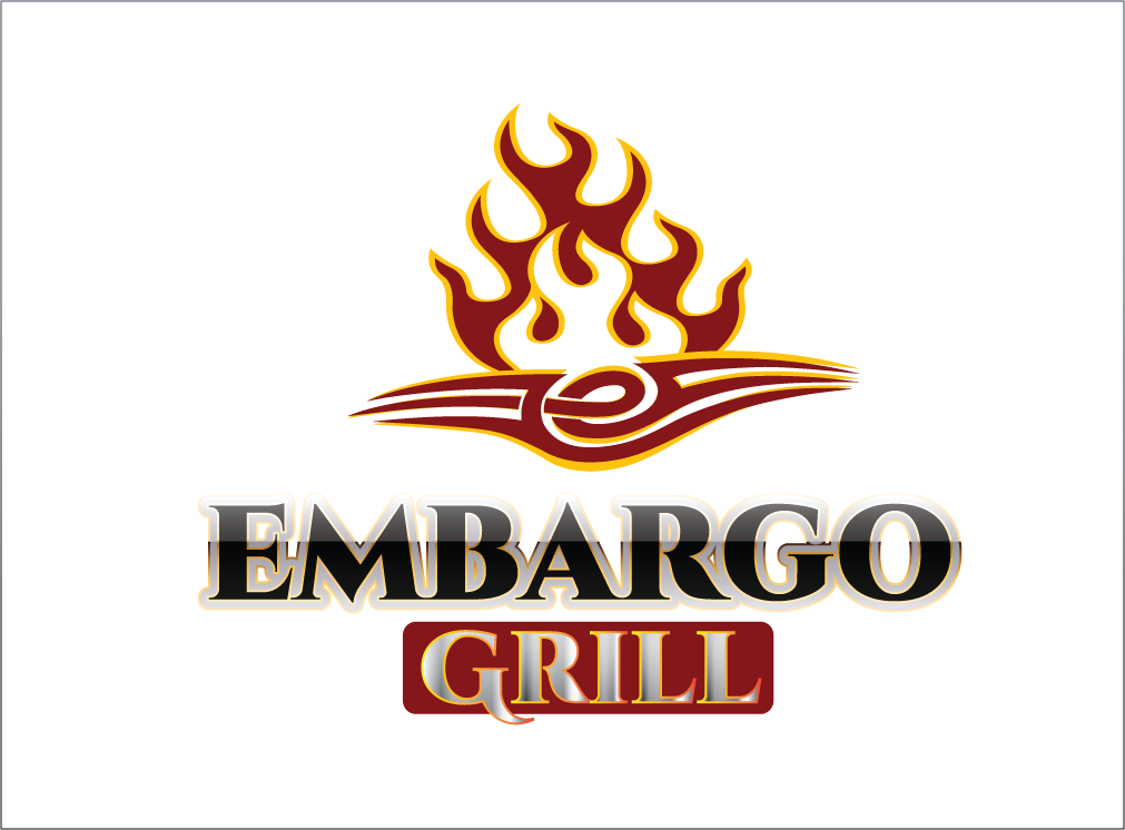 Logo Design by Sri Lata - Entry No. 75 in the Logo Design Contest Captivating Logo Design for Embargo Grill.