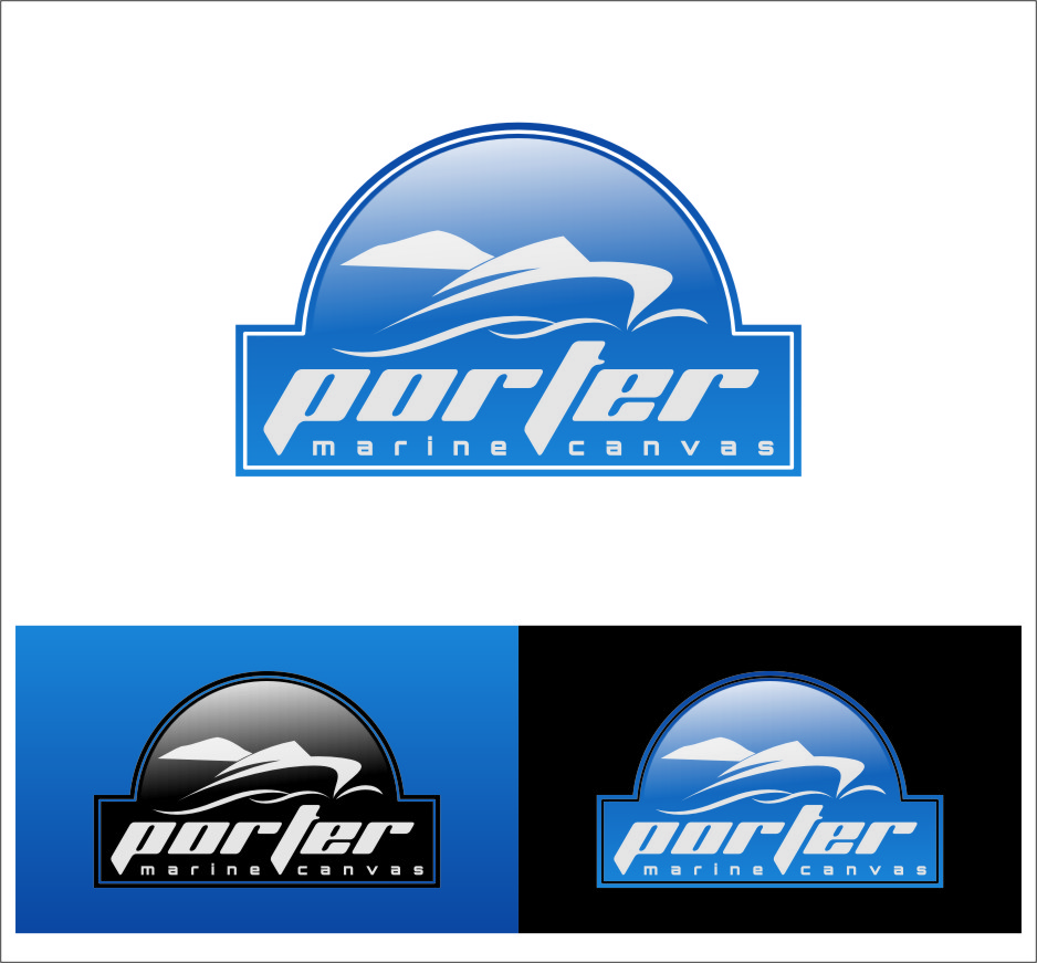 Logo Design by Ngepet_art - Entry No. 191 in the Logo Design Contest Imaginative Logo Design for Porter Marine Canvas.
