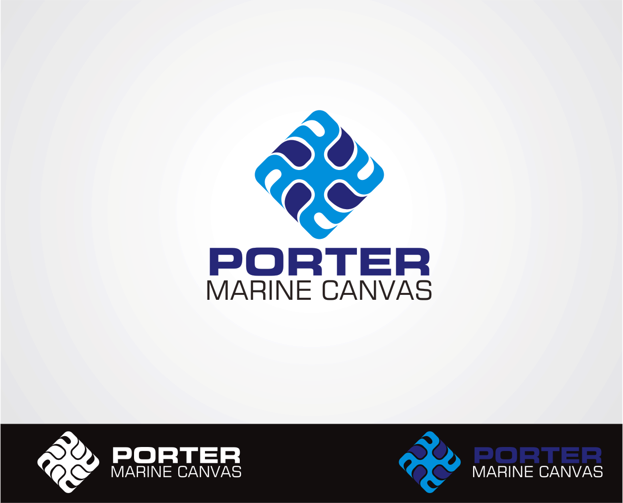 Logo Design by Armada Jamaluddin - Entry No. 194 in the Logo Design Contest Imaginative Logo Design for Porter Marine Canvas.