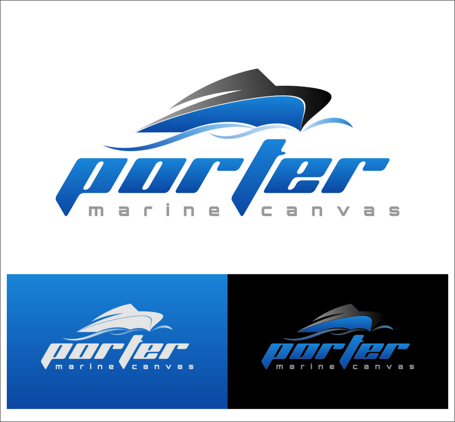 Logo Design by RasYa Muhammad Athaya - Entry No. 196 in the Logo Design Contest Imaginative Logo Design for Porter Marine Canvas.