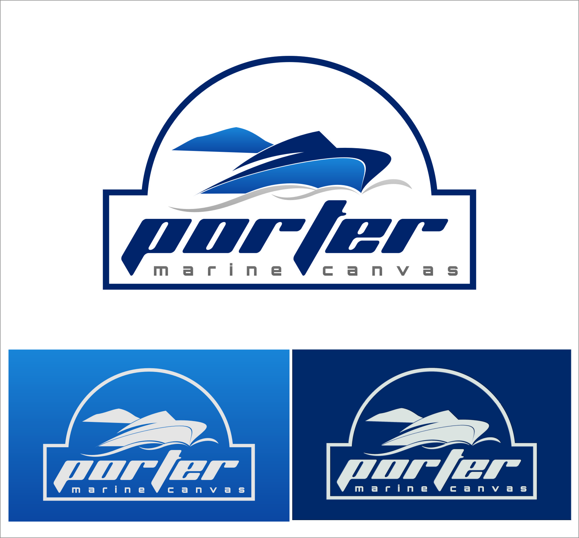 Logo Design by Ngepet_art - Entry No. 198 in the Logo Design Contest Imaginative Logo Design for Porter Marine Canvas.
