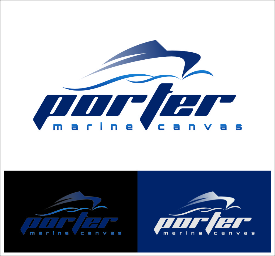 Logo Design by Ngepet_art - Entry No. 200 in the Logo Design Contest Imaginative Logo Design for Porter Marine Canvas.