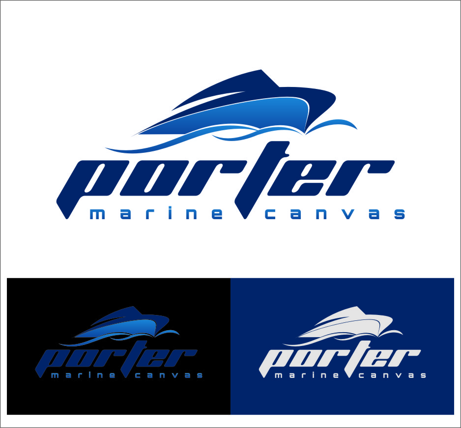 Logo Design by RoSyid Rono-Rene On Java - Entry No. 201 in the Logo Design Contest Imaginative Logo Design for Porter Marine Canvas.