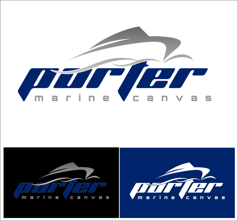 Logo Design by RasYa Muhammad Athaya - Entry No. 206 in the Logo Design Contest Imaginative Logo Design for Porter Marine Canvas.