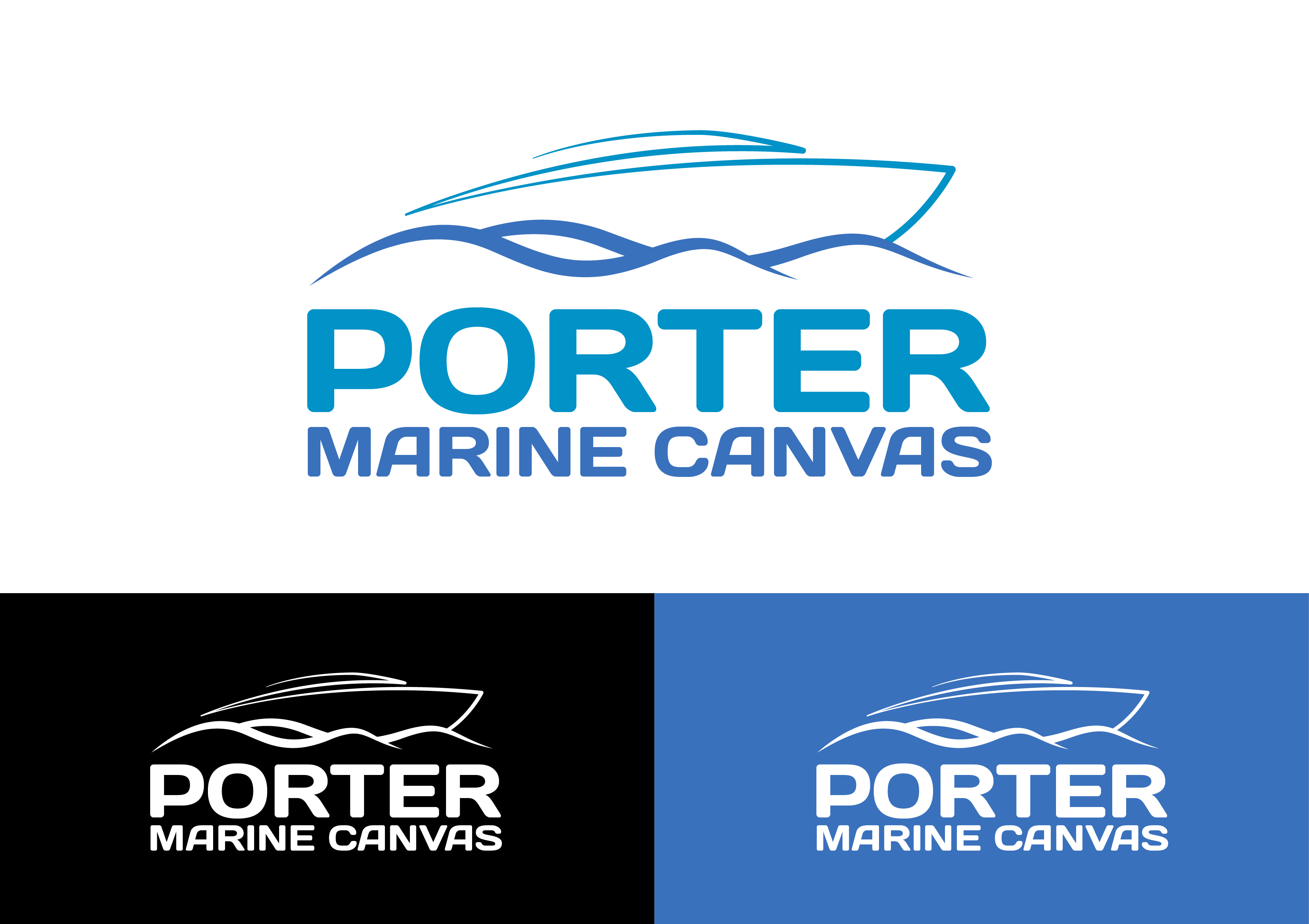 Logo Design by 3draw - Entry No. 207 in the Logo Design Contest Imaginative Logo Design for Porter Marine Canvas.