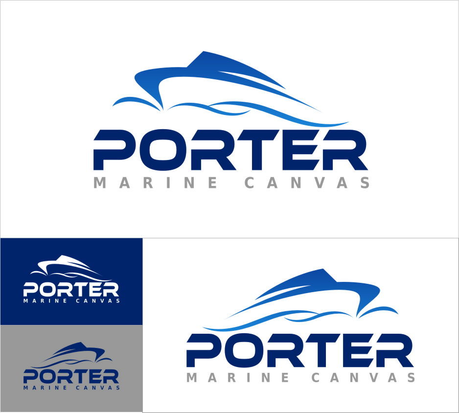 Logo Design by RasYa Muhammad Athaya - Entry No. 208 in the Logo Design Contest Imaginative Logo Design for Porter Marine Canvas.