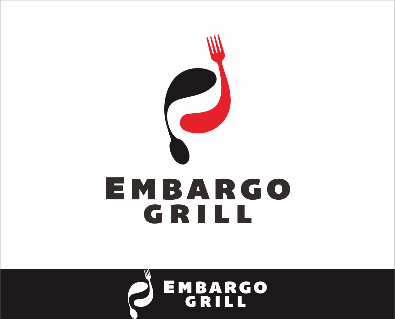 Logo Design by Armada Jamaluddin - Entry No. 78 in the Logo Design Contest Captivating Logo Design for Embargo Grill.